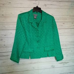 Koret Dress Petite Women's Blazer Size 14P Green